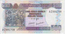 Burundi 500 Francs 2009 Pick 45 UNC - Burundi