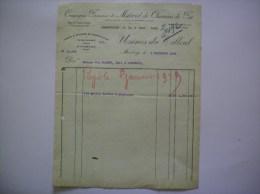 MAUBEUGE USINES DU TILLEUL COMPAGNIE FRANCAISE DE MATERIEL DE CHEMIN DE FER FACTURE DU 4 DECEMBRE 1928 - France