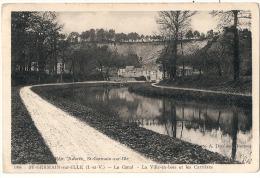 ST GERMAIN SUR ILLE   Le Canal La Ville En Bois Et Les Carrieres Timbrée TB - Francia