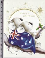 Koala Bears Fantasy Flag Greeting Card Not Postcard, Season`s Greetings 13 - Ours