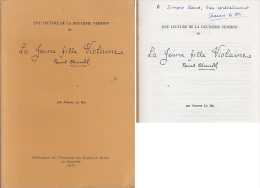 C1 Jeanne Le Hir LECTURE JEUNE FILLE VIOLAINE DE PAUL CLAUDEL Dedicace - Livres, BD, Revues