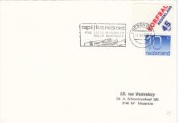Kaart 1 Feb 1989 Roosendaal (machinestempel Spijkenisse 65.000 Inwoners) - Postal History