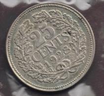 NEDERLAND  Netherlands  25 CENTS 1928 ARGENT SILVER - 25 Cent
