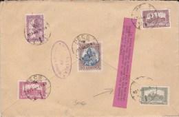 HONGRIE - 1923 - ENVELOPPE RECOMMANDEE De PECS Pour ST GERVAIS NAMUR (BELGIQUE) Avec ANNOTATION RARE De VALEUR DECLAREE - Marcophilie