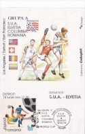 USA'94 SOCCER WORLD CUP, GROUP A, CM, MAXICARD, CARTES MAXIMUM, 1984, ROMANIA - World Cup
