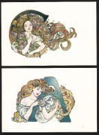 CPM CANNES - 1982 - Hélène MOURARET - Lot De 6 Cartes Avec Lettres De La Ville - Voir Descriptif - Autres Illustrateurs