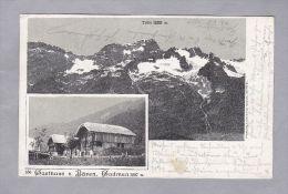 BE GADMEN 1901.III.13. Gadmen  Gasthaus Z. Bären Und Titlis AK Foto Brugger - BE Berne