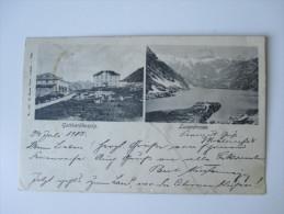 Postkarte 1905 Gotthardhospiz / Lucendrosee Mit Dreifarben Frankatur!! 5 Stempel. Gelaufen Nach Deutschland. Tolle Karte - 1882-1906 Wappen, Stehende Helvetia & UPU