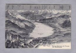 BE Thun,  1912.VIII.5. Krattigen Berner Oberland Mit Thuner Und Brienzer See Foto Wehrli - BE Berne