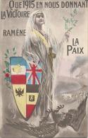Militaria - Patriotique - Que1915 En Nous Donnant La Victoire - Neuve TTBE Peu Courante - Patriotiques