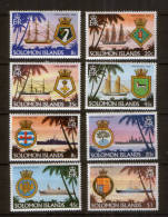 Solomon Islands 405-08 + 426-29 ** Royal Navy , Wappen - Schiffahrt