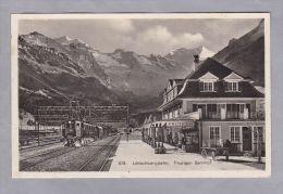 BE Frutigen 1928.XI.23 Frutigen  Bahnhof Lötschbergbahn Photoglob - BE Berne