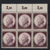Deutsches Reich Michel No. 810 ** postfrisch Sechserblock