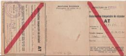 PERIODE GUERRE 39/45. PREFECTURE DU GERS AUCH AUTORISATION TEMPORAIRE DE CIRCULER 1943 GERS,ARRONDISSEMENTS LIMITROPHES - Historical Documents