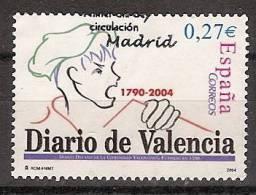 España U 4094 (o) Diario De Valencia. 2004 - 2001-10 Usados