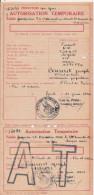 AUCH GERS (PERIODE GUERRE 39/45) AUTORISATION TEMPORAIRE DE CIRCULER 1941 - Historical Documents