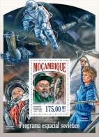 Mozambique 2014 Space Russia Yuri Gagarin Tsiolkovsky Tereshkova S/S MOZ13524b - Space