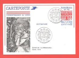 Carte Entier N° 2496-CP1 - Cachet Festival Européen Des écrivains Strasbourg 16.10.1987 - Postal Stamped Stationery