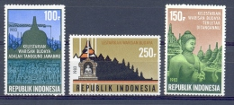 Mgm1137 RESTAURATIE BOROBUDUR TEMPEL RESTAURATION TEMPLE INDONESIË INDONESIA 1983 PF/MNH - Monumenten