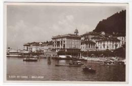 Waterfront Lago Di Como Lake Como Bellagio Italy RPPC Postcard - Como