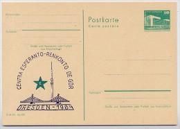 DDR P84-46-84 C93 Postkarte Zudruck ESPERANTO-ZENTRUM DRESDEN 1984 - Esperanto