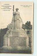 """LISIEUX  - Souvenir De L'inauguration Du Monument """"la France Victorieuse"""" Le 9 Décembre 1923.(carte Photo) - Lisieux"""