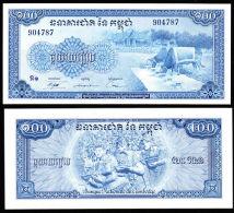 Cambodia 100 Riel 1956-72 Pick 13 UNC - Cambodge