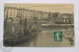 Boat Postcard - Seine - Inferieure - Dieppe - Le Bassin Et Le Quai Henri IV - Posted - Bateaux