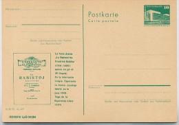 """DDR P84-61-84 C105 Postkarte Zudruck SCHILLER """"DIE RÄUBER"""" Leipzig ** 1984 - Esperanto"""
