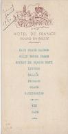 Menu 1950 Hotel De France 01 BOURG EN BRESSE - Menus