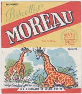 Vieux  Papiers : Buvard :  TOURS De  MOREAU  :Girafe - Animaux