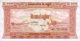 Cambodia  2000 Riel 1995 Pick 45 UNC - Cambodge