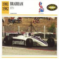 Fiche  -  Formula 1 Grand Prix Cars  -  Brabham BT50  -  Pilote Nelson Piquet  -  Carte De Collection - Grand Prix / F1