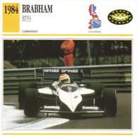 Fiche  -  Formula 1 Grand Prix Cars  -  Brabham BT53  -  Pilote Nelson Piquet  -  Carte De Collection - Grand Prix / F1