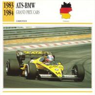 Fiche  -  Formula 1 Grand Prix Cars  -  ATS-BMW  -  Pilote Manfred Winkelhock  -  Carte De Collection - Grand Prix / F1