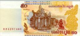 Cambodia  50 Riel 2002 Pick 52 UNC - Cambodia