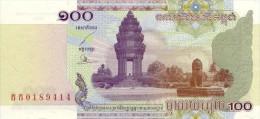 Cambodia  100 Riel 2001 Pick 53 UNC - Cambodia