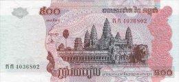 Cambodia  500 Riel 2002 Pick 54 UNC - Cambodia