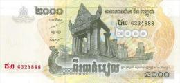 Cambodia  2000 Riel 2007 Pick 59 UNC - Cambodia