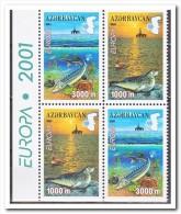 Azerbeidzjan 2001 Postfris MNH, Fish, Europe From Booklet - Azerbeidzjan