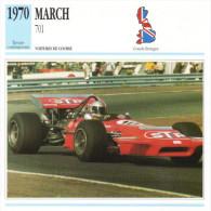 Fiche  -  Formula 1 Grand Prix Cars  -  March 701  -  Pilote Mario Andretti  -  Carte De Collection - Grand Prix / F1