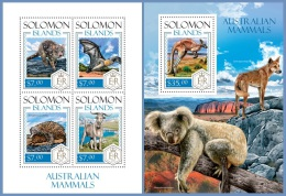 slm14103ab Solomon Is. 2014 Australian Mammals 2 s/s Bat