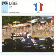 Fiche  -  Formula 1 Grand Prix Cars  -  Ligier JS27  -  Pilote René Arnoux  -  Carte De Collection - Grand Prix / F1
