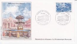 ROME, Place Saint-Pierre, Fontaine, Conseil De L´Europe, Strasbourg, G.P. Teytaud, 10/11/84 - 1980-1989