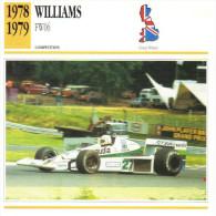 Fiche  -  Formula 1 Grand Prix Cars  -  Williams FW06  -  Pilote Alan Jones  -  Carte De Collection - Grand Prix / F1