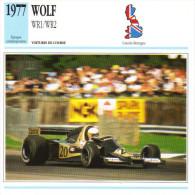 Fiche  -  Formula 1 Grand Prix Cars  -  Wolf WR1/WR2  -  Pilote  Jody Scheckter  -  Carte De Collection - Grand Prix / F1