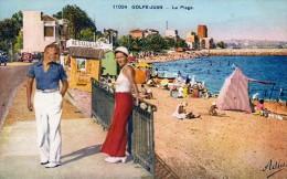 CPA  -  GOLFE - JUAN  (06)   La  Plage -  1937 - Francia