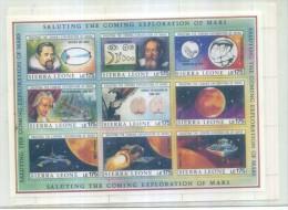 SIERRA LEONE EXPLORATION OF MARS 1990 SS TEMATICA SPAZIO SCIENZE ASTRONOMIA SPACE UFO ASTRONOMY - Espacio