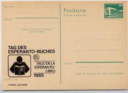 DDR P84-36-85 C130 Postkarte Zudruck ESPERANTO -BUCH LEIPZIG 1985 - Esperanto