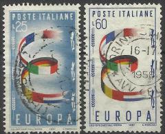 Italia 1957, Europa-CEPT (o), Serie Completa - Europa-CEPT